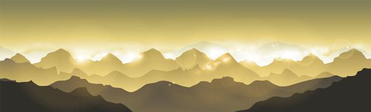 Mountains landscape - Himalaya mountains. Mountains landscape - Vector illustration Himalaya mountains Royalty Free Stock Photos