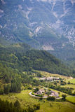 Mountains Landscape with a village in Provence Royalty Free Stock Photography