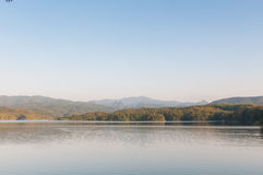 Mountains landscape with waters. And clear sky Stock Image