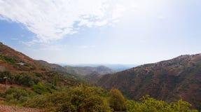 Mountains landscape withe bleu sky. Taberrant. Morocco Stock Photos