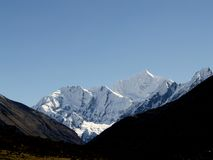 Mountains in Langtang Stock Photo