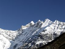 Mountains in Langtang Stock Photography