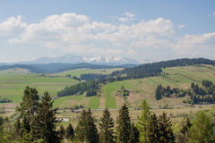 Mountains lanscape. Spring in the mountains, Poland Royalty Free Stock Photography