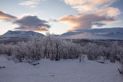 Mountains in Lapland Royalty Free Stock Image