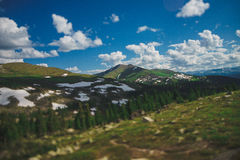 Mountains. А large mountain range in Siberia, Ergaki Royalty Free Stock Photo