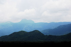 Mountains. Layered mountain long view Royalty Free Stock Image