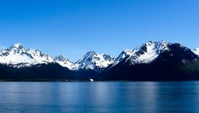 Mountains Leaving Seward, Alaska in Summer stock images