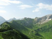 The mountains of Liechtenstein Stock Image