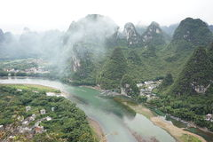 The mountains and  the Lijiang River Stock Photography