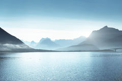 Mountains on Lofoten islands, Norway Royalty Free Stock Photos
