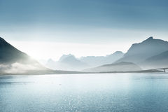 Mountains, Lofoten islands, Norway Stock Photos