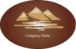 Mountains logo. Logo. Landscape with the mountains Stock Photos