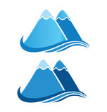 Mountains logo Royalty Free Stock Photo