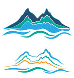 Mountains logo Royalty Free Stock Images