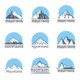 Mountains logo set, vector illustration Stock Photography