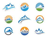 Mountains Logo Template Stock Photos