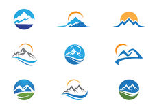 Mountains Logo Template Royalty Free Stock Images