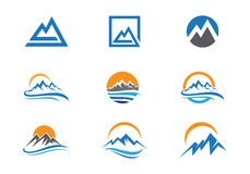 Mountains Logo Template Stock Images