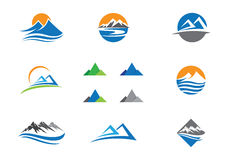Mountains Logo Template Royalty Free Stock Photography