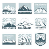 Mountains  logo  travel Stock Image