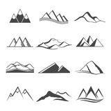 Mountains  logo  travel Stock Images
