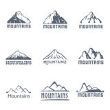 Mountains logo, vector illustration Stock Photo