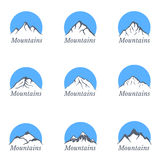 Mountains logo, vector illustration set Stock Photography