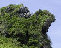 Tropical Island rock outcropping royalty free stock photography
