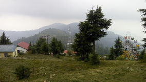 Mountains. Lovely weather in a hilly area captured Stock Photos