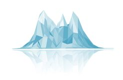 Mountains low-poly style illustration Royalty Free Stock Photos