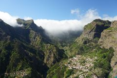 Mountains of Madeira Portugal Royalty Free Stock Images