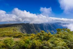 Mountains of Mafate at Reunion Island. During a sunny day Royalty Free Stock Photos