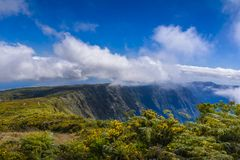 Mountains of Mafate at Reunion Island. During a sunny day Royalty Free Stock Photography