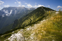 The mountains of Maiella. View of the mountains of Maiella in summer in Abruzzi Stock Photo