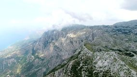 Mountains of the Makarska bird's eye view stock video