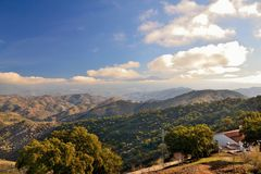 Mountains of Malaga Royalty Free Stock Image