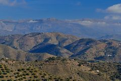 Mountains of Malaga Royalty Free Stock Photos