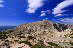 Mountains of Mallorca Island horizontal Royalty Free Stock Photos