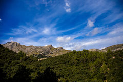 Mountains of Mallorca. Photograph of Puig Major, mountains in Mallorca island, Mallorca, Balearic Islands, Spain Royalty Free Stock Image
