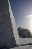 Mountains and Marble Quarry Royalty Free Stock Photography