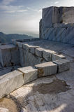 Mountains and Marble Quarry Stock Images