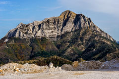 Mountains and Marble Quarry Royalty Free Stock Photo