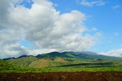 Mountains on Maui. Mountains of Maui covered with lush green forest stock photos