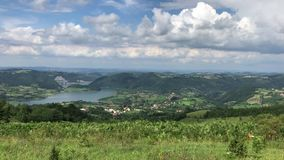 Mountains and meadows in Serbia stock video footage