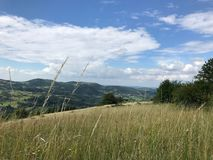 Mountains and meadows in Serbia Stock Photo