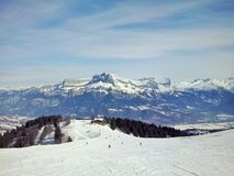 The mountains Megeve, France royalty free stock photo