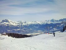 The mountains Megeve, France royalty free stock photography