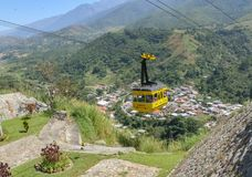 Mountains in merida venezuela. With the city royalty free stock photography