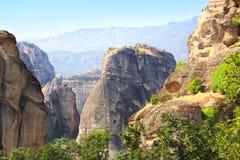 Mountains Meteors, Kalampaka, Greece Royalty Free Stock Image