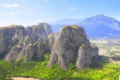 Mountains Meteors, Kalampaka, Greece Royalty Free Stock Photo
